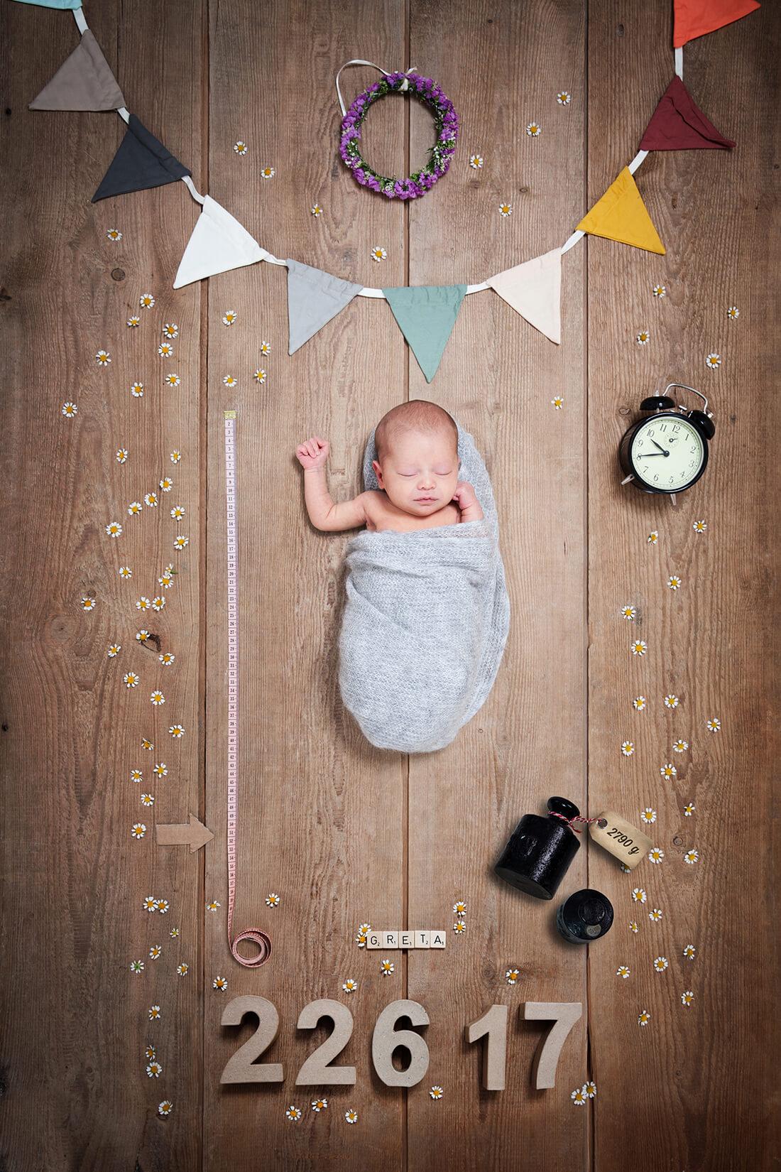 Babyfotografie_Neugeborenencollage © Little Monkey Fotografie, Berlin 2018
