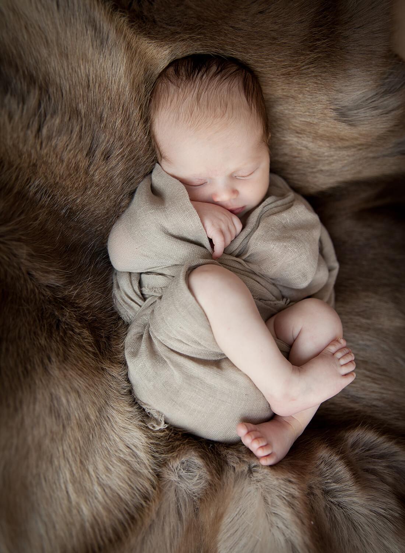 Neugeborenes auf Fell © Little Monkey Fotografie, Berlin