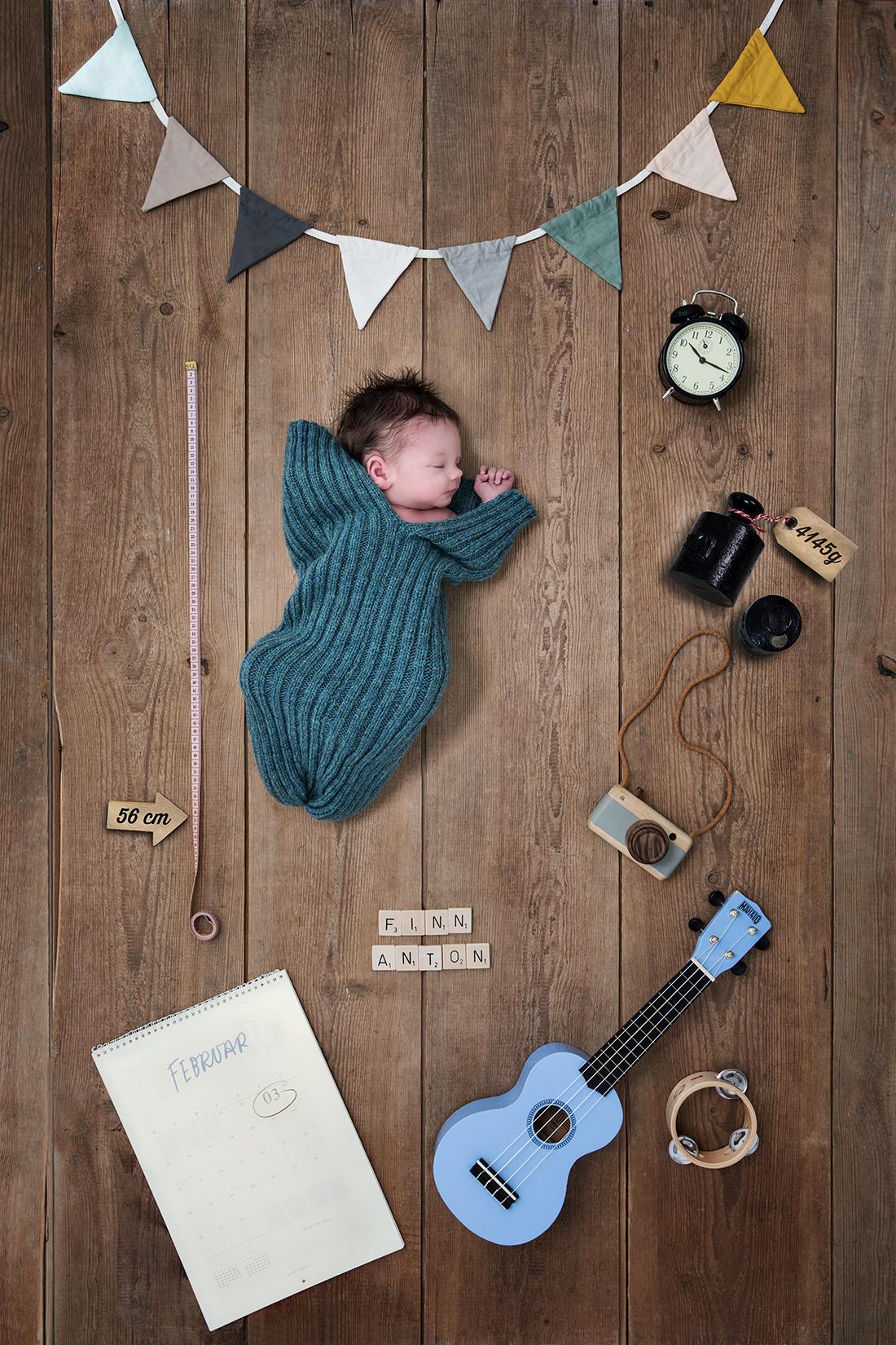 Collage_Geburtsinfos_Babyfotografie © Miriam Ellerbrake, Berlin