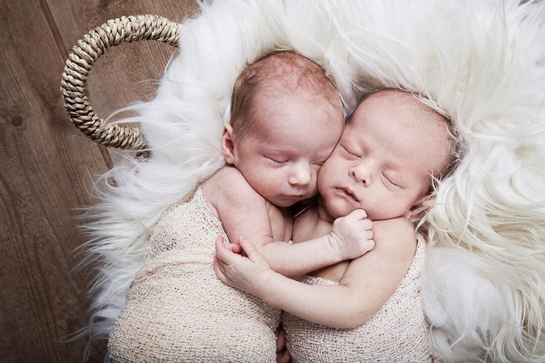 Neugeborene Zwillinge Babyfotografie © Litle Monkey Fotografie, Berlin