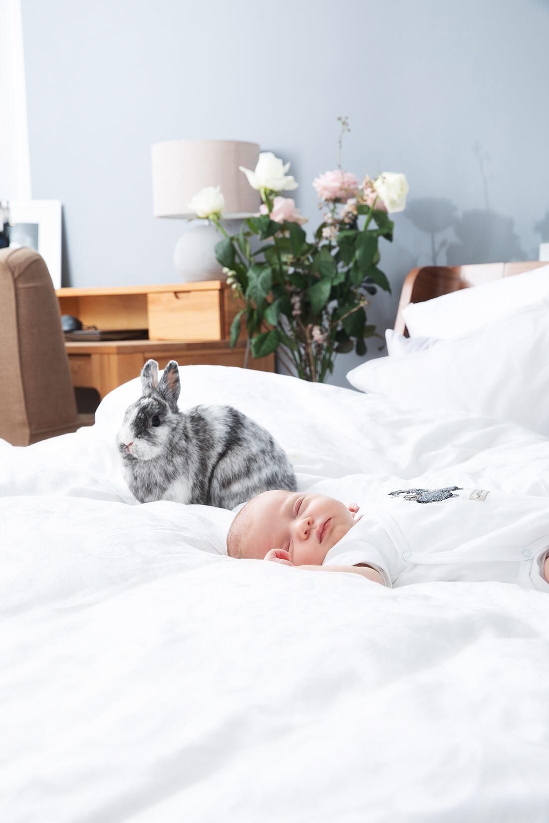 Baby mit Kaninchen © Miriam Ellerbrake / Little Monkey 2019